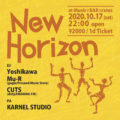 10/17(SAT)NEW HORIZON